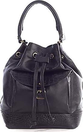Andrea Vinci Bolsa saco com bolso em couro legítimo preta