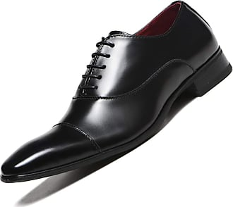 LanFengeu Men Formal Shoes Light Breathable Lace up Derbys Business Office Wedding Casual Pointed Toe Leather Dress Shoe Black