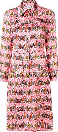 Ultra Chic animal print shirt dress - Pink