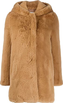 Sandro Honey faux fur coat - NEUTRALS