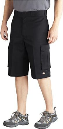 Dickies Mens Big 13 Inch Loose Fit Twill Cargo Short, Black/Black, 50