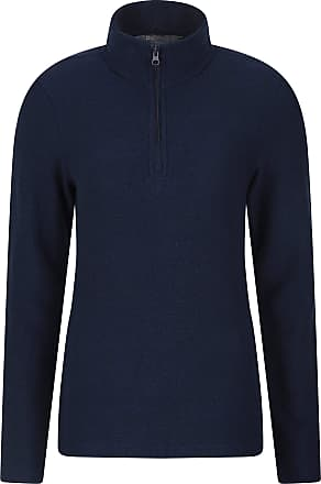 Mountain Warehouse Cambridge Half Zip Womens Top - Long Sleeve Sweater, Soft, Warm & Cosy Pullover - Ideal for Travelling, Hiking & Daily Use Navy 20