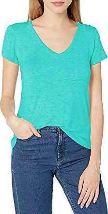 Lacoste Women/'s V-Neck Fluid Jersey T-Shirt Mint Green