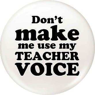 Flox Creative Small 25mm Pin Badge Use my Teacher Voice