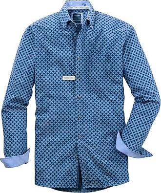 Olymp Casual Hemd, modern fit, Button-down, Marine, XXL