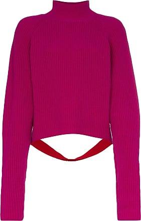 Borgo De Nor Suéter de tricô com contraste - Rosa