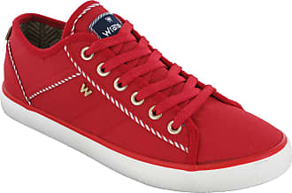 Wrangler Shoes Womens Summer Fashion Nylon Comfort Trainers Pumps Lace Up UK 4-8 (UK5 EU38, Red)