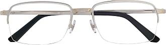 Cartier Armação de óculos retangular - Prateado
