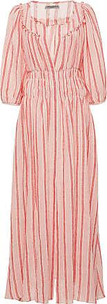 Three Graces London Arabella Shirred Cotton-Voile Maxi Dress