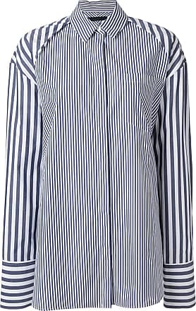 Juun.J Camiseta oversized listrada - Branco