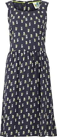 Weird Fish Fetlar Printed Viscose Midi Dress Navy Size 12