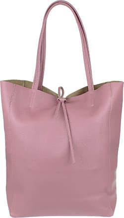 Girly HandBags Girly HandBags Open Top Genuine Leather Handbag (Dark Pink)