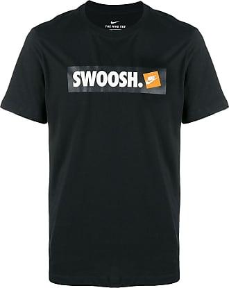 Nike T-Shirt mit Nike-Swoosh - Schwarz
