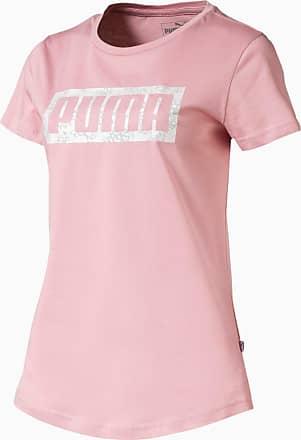 Puma Graphic Logo Womens T-Shirt, Bridal Rose, size X Small, Clothing