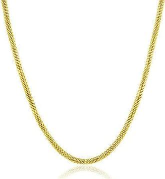 Design Medalhas Corrente com Malha Banhada ouro 18k Tipo Grega com 45 cm
