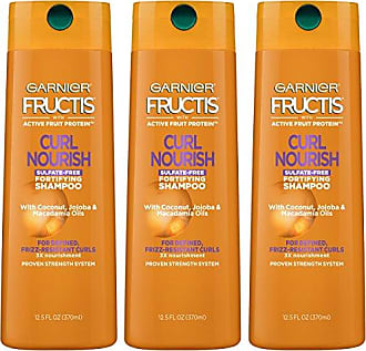 Garnier Fructis Curl Nourish Sulfate-Free and Silicone Free Shampoo made with Coconut Oil and Glycerin for Nourished and 24 hour Frizz-Resistant Curls, 3 count, Packaging May Vary