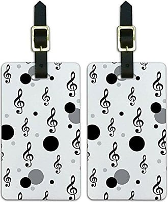 Graphics & More Graphics & More Treble Clef Musical Note Sound-Black On White
