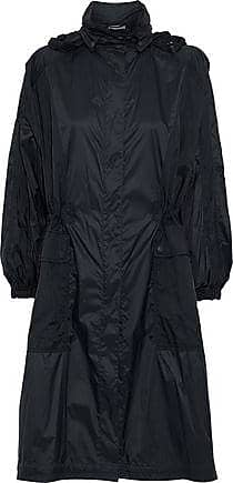 Vince Vince. Woman Paneled Shell Hooded Jacket Midnight Blue Size XS