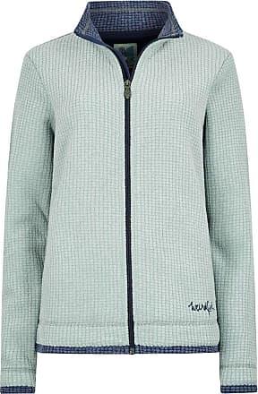 Weird Fish Ariana Grid Fleece Jacket Silver Sage Size 14