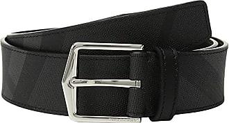 Burberry Joe London Check Belt (Charcoal/Black) Mens Belts