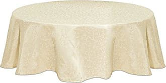 Lenox Opal Innocence 70 Round Tablecloth, Ivory