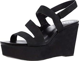 Vince Camuto Womens Velley Platform Wedge Sandal, Black, 7.5 UK