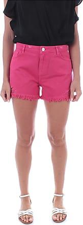 MY TWIN Twinset 201MT2366 Shorts Con Rotture e Taglio Vivo da Donna Pink Selvatica - - UK 4