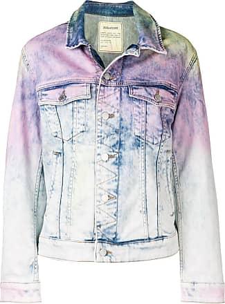 Zadig & Voltaire tie-dye print denim jacket - Blue