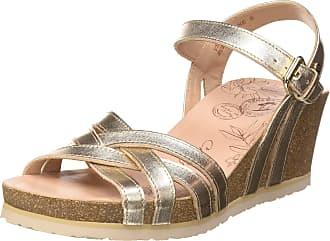 Panama Jack Womens Vera Shine Ankle Strap Sandals, Gold (Oro B3), 4 UK
