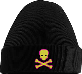 HippoWarehouse Skull and Crossbones Embroidered Beanie Hat Black