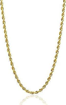 Design Medalhas Corrente Cordão Baiano Banhado com ouro 18k com 45 cm