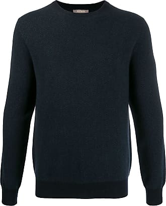 N.Peal cable crew neck sweater - Blue