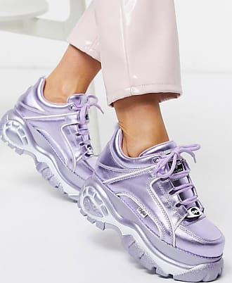 Buffalo London lowtop trainer in lilac metallic-Purple