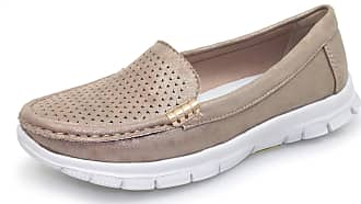 Lunar Womens Bellagio Light Weight Moccasin 6 UK Taupe