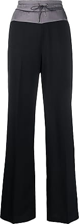 Fabiana Filippi contrasting waistband wide-leg trousers - Black