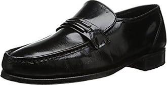 Florsheim Mens Como Flat Strap Loafer,Black,8.5 D
