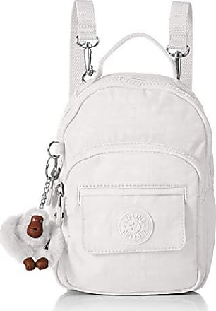 Kipling Womens Alber 3-in-1 Convertible Mini Bag Backpack, Wear 3 Ways, Zip Closure, Alabaster Tonal