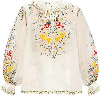 Zimmermann Puff-sleeve Top Womens White