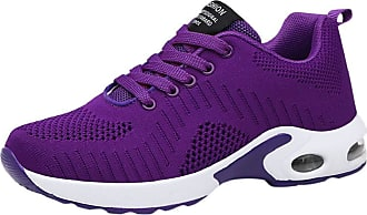Yvelands Air Cushion Sneakers Women Casual Anti Slip Breathable Mesh Road Running Shoes for Ladies Flat Sports Shoes Sale Purple