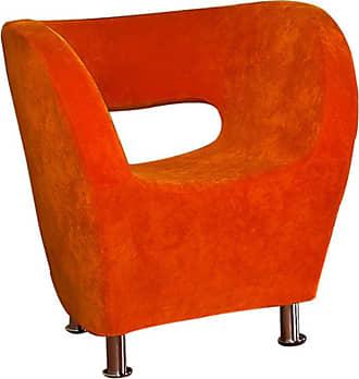BEST SELLING HOME Modern Fabric Chair - Orange - 258647