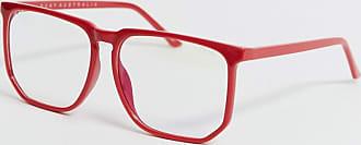 Quay Quay - Rote Sonnenbrille mit klaren Gläsern-Transparent