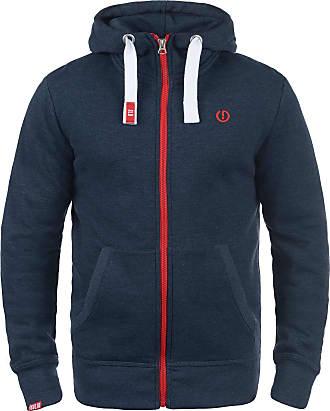 Solid Benn High-Neck Mens Sweatjacket, Size:M, Colour:Insignia Blue Melange (8991)