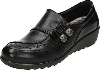 Cushion-Walk Womens Slip On Shoes Flexible Black 4 UK