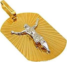Prado Joias Pingente Em Ouro 18k Placa Com Jesus Cristo