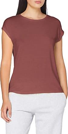 Vero Moda Womens Vmava Plain Ss Top Ga Noos T-Shirt, Rose Brown, X-Small