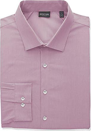 Kenneth Cole Reaction Kenneth Cole Reaction Mens Tall Size Technicole Slim Fit Stretch Solid Spread Collar Dress Shirt, Pink, 19 Neck 37-38 Sleeve