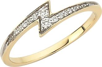 Zoe & Morgan Zap Diamant Goldring - LARGE - Gold/White