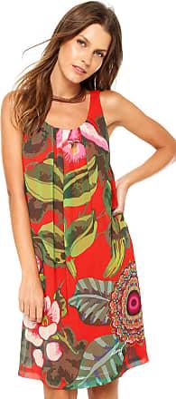 Desigual Vestido Desigual Curto Estampado Vermelho/ Verde