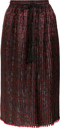 À La Garçonne pleated jacquard skirt - Brown