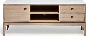 MAVIS Höllviken tv-bänk 150 cm ek/ marmor, mavis